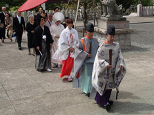 本牧神社神前結婚式様子1