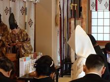 本牧神社神前結婚式様子2