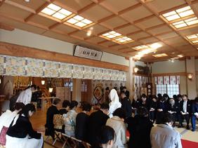 本牧神社神前結婚式様子3