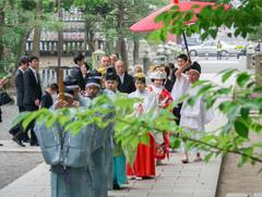 相模國一國一社八幡宮神前結婚式様子5
