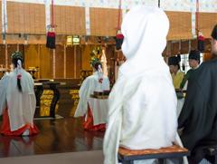 相模國一國一社八幡宮神前結婚式様子6